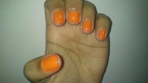 Rita Ora's Rimmel Tangerine Tent nails